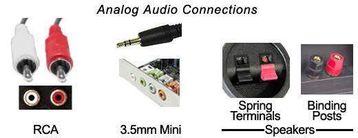 analog audio connectors